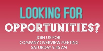 Are you looking for opportunities?