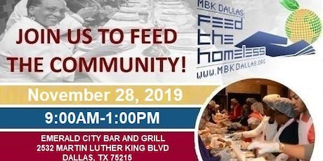 MBK Dallas: Feed The Homeless Thanksgiving Drive tickets