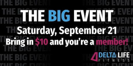 """""""The BIG Event"""" by Delta Life Fitness (Kids Welcome) tickets"""
