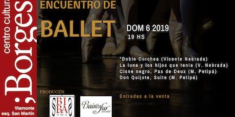 Encuentro de ballet entradas