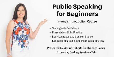 Public Speaking for Beginners tickets