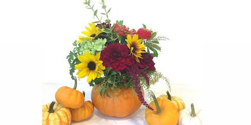 Fall Harvest Pumpkin Arrangement