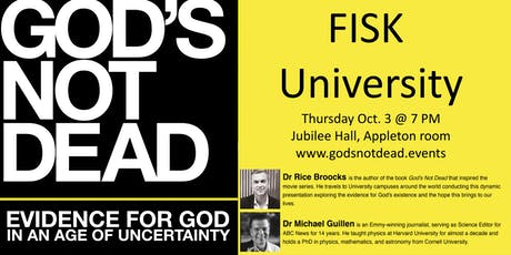 God's Not Dead with Dr. Rice Broocks at FISK University tickets