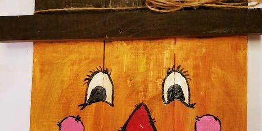 Scarecrow Pallet Paint &Sip Eagles Rest Cellars