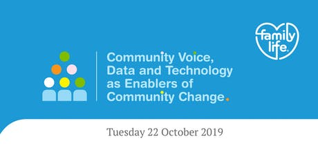 Community Voice, Data and Technology as Enablers of Community Change tickets