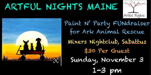 Paint N' Party FUNdraiser for ARK Animal Rescue