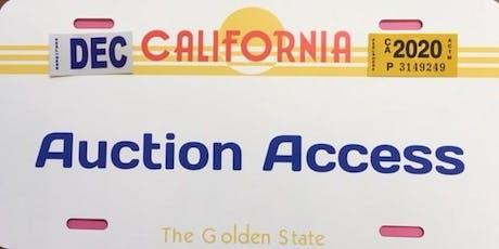 Anaheim Auto Auction School tickets