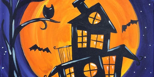 Parent & Child Painting Class - Haunted House