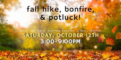 fall hike, bonfire, and potluck tickets