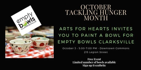Hands and Hearts for Empty Bowls: Paint a Bowl tickets