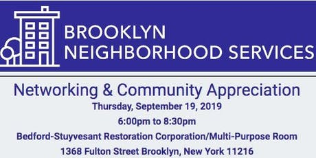 Brooklyn Neighborhood Services Networking & Community Appreciation tickets
