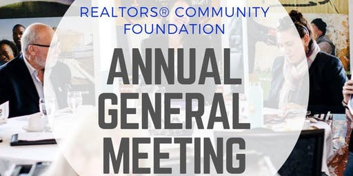 REALTORS® Community Foundation Annual General Meeting