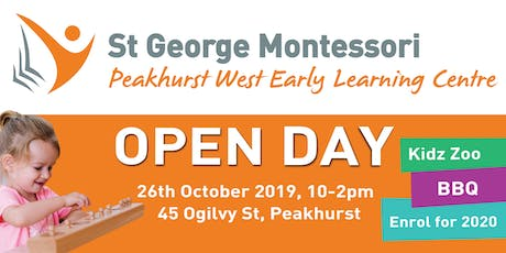 St George Montessori Peakhurst West Open Day tickets