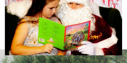 Santa and me session at Country Pines Christmas Tree Farm