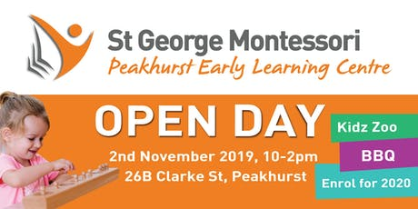 St George Montessori Peakhurst South Open Day tickets