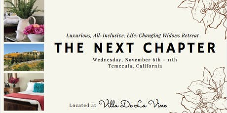 The Next Chapter:A luxurious,all-inclusive,life-changing retreat for widows tickets