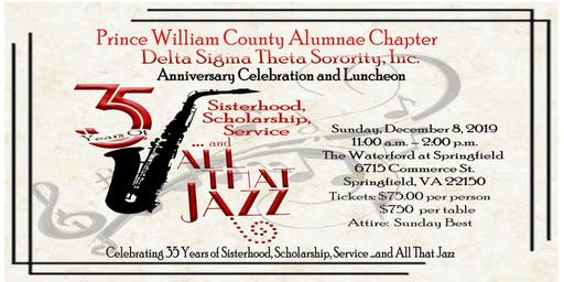 35th Anniversary of Prince William County Alumnae Chapter of Delta Sigma Theta Sorority, Inc. Anniversary Luncheon