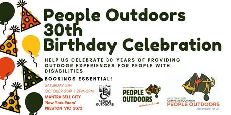 People Outdoors 30th Birthday Celebration tickets
