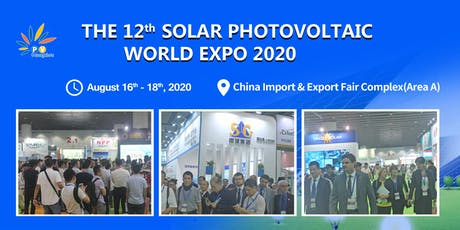 The 12th Solar Photovoltaic World Expo 2020 tickets