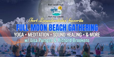 Full Moon Beach Gathering: Yoga, Meditation, Sound Healing - $10 @ door tickets