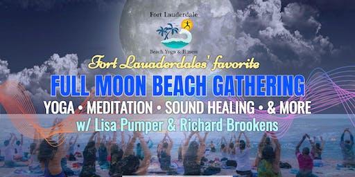 Full Moon Beach Gathering: Yoga, Meditation, Sound Healing - $10 @ door