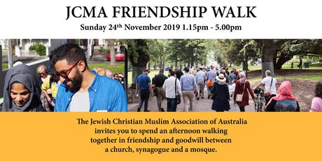 JCMA Friendship Walk - 24th November 2019 tickets