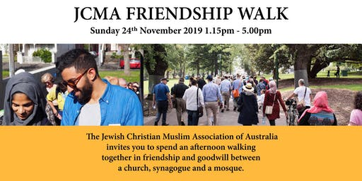 JCMA Friendship Walk - 24th November 2019