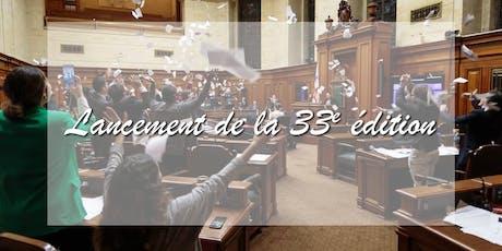 Lancement de la 33e édition du Jeune Conseil de Montréal tickets