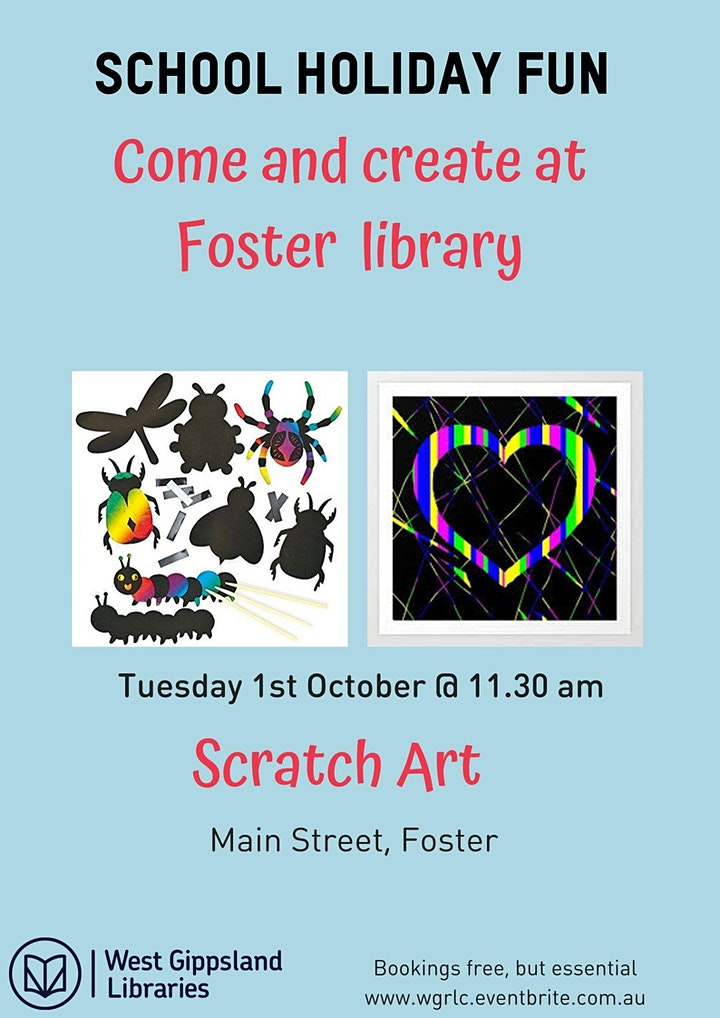 Scratch art at Foster Library image