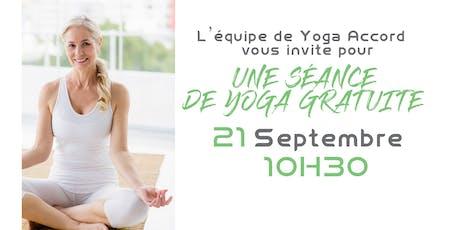 Initiation gratuite au Yoga d'Aujourd'hui: Expérience de transformation billets