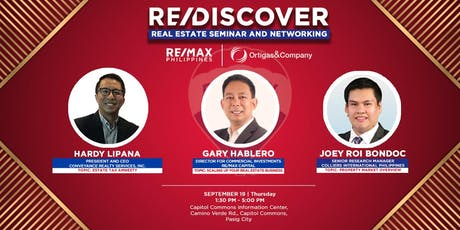 RE/DISCOVER: Real Estate  Seminar and Networking tickets