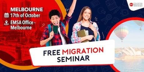 Free Migration Seminar Melbourne (October 2019) tickets