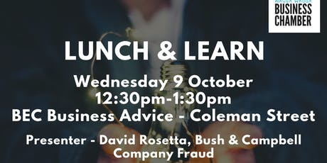 Lunch and Learn with Bush & Campbell - Company Fraud tickets