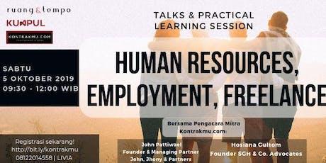 Human Resources, Employment & Freelance tickets
