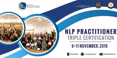 NLP Practitioner Triple Certification Training tickets