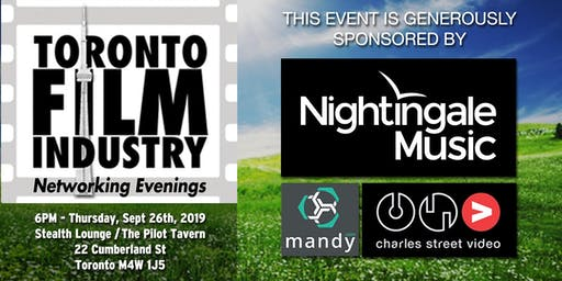FALL/SEPTEMBER Toronto FILM and TV NETWORKING Evening