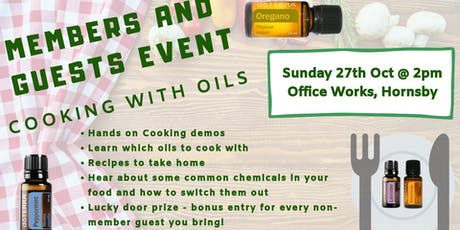 Members and Guests - Cooking with Oils tickets