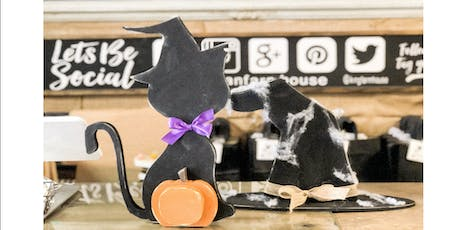 Halloween Black Cat and Witches Hat Decor tickets