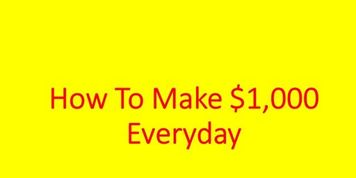 How To Generate $1,000 Pay Days Selling Other People's Stuff