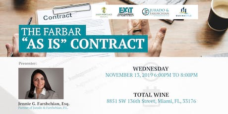 """The FARBAR """"As Is"""" Contract tickets"""