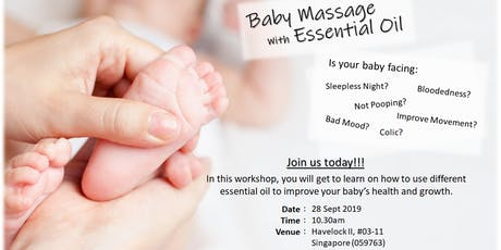 Baby massage with essential oil tickets