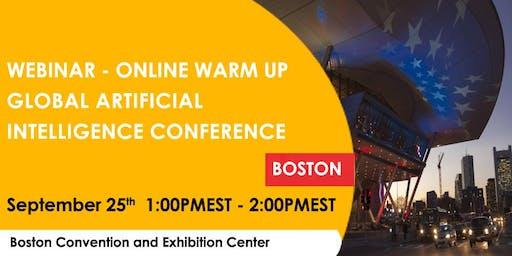 Global Artificial Intelligence Conference - Webinar - Online Warm-Up (Free)