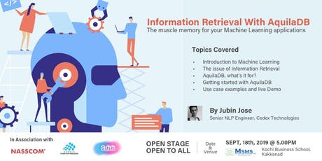 Information Retrieval with AquilaDB:  The Muscle Memory for your Machine tickets