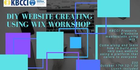 DIY Website creating using WIX workshop tickets