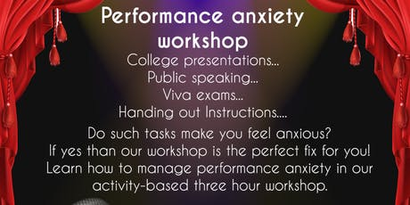 Performance Anxiety Workshop tickets