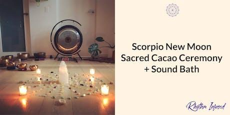 Scorpio New Moon Sacred Cacao Ceremony + Sound Bath tickets