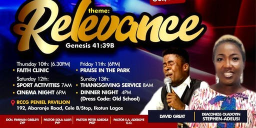 RCCG PENIEL PAVILION YOUNG ADULTS & YOUTH CONVENTION