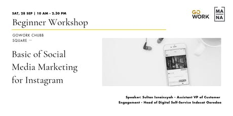 (Workshop) Basic of Social Media Marketing for Instagram  tickets