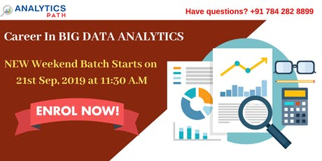 Big Data Analytics Training New Weekend Batch From 21st Sep @11:30 am tickets