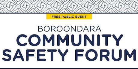 City of Boroondara Community Safety Forum  tickets